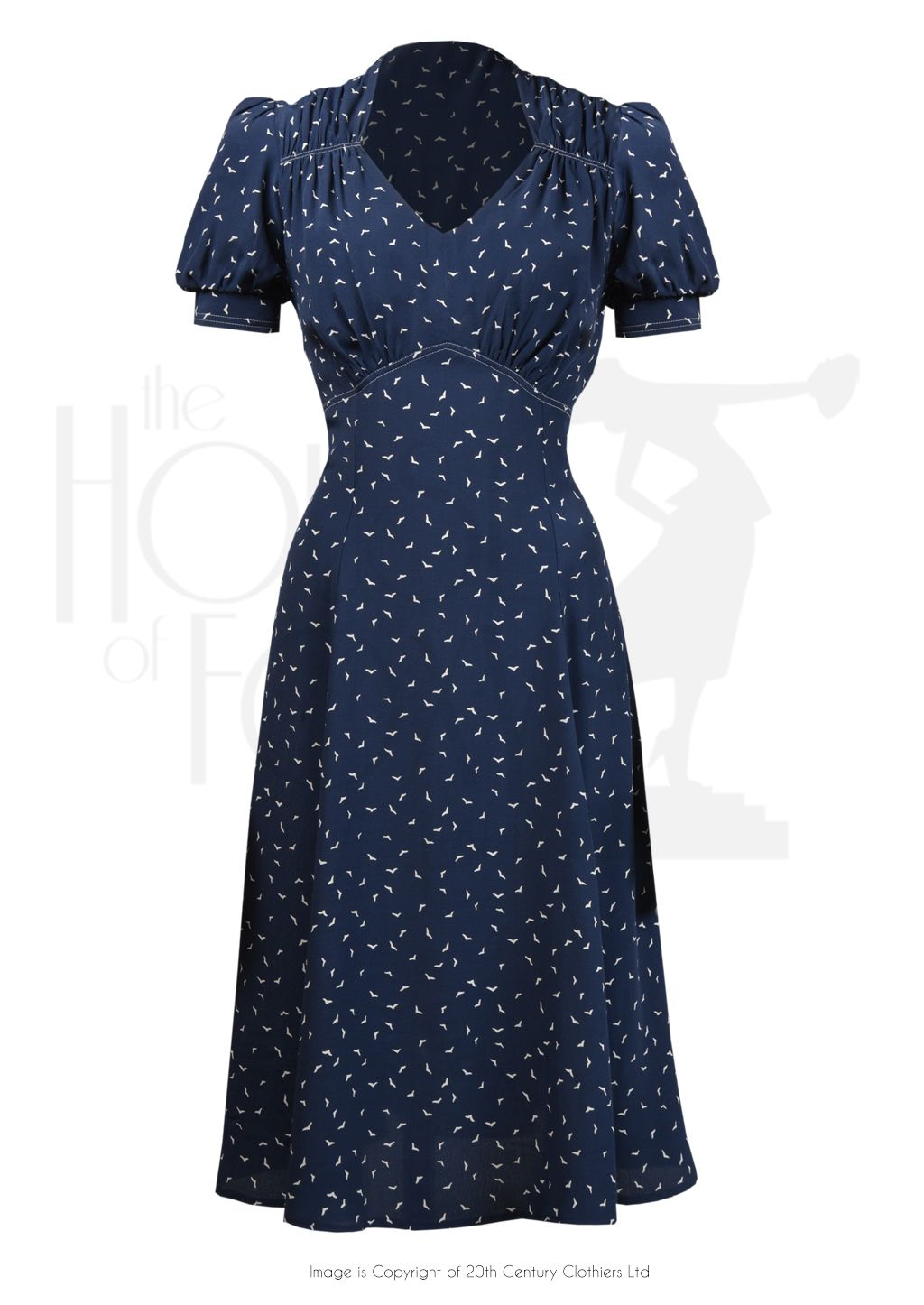 f39ef9b45d 1940s Perfect Tea Dance Dress in Starling Rayon Crepe