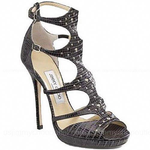 d18f2f58a5e の♪♫ Jimmy Choo Mostyn Lizard Embossed Sandals
