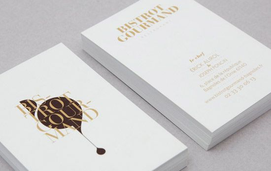 Elegant business card bistrot gourmand business cards elegant business card bistrot gourmand reheart Gallery