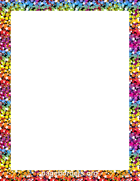 Printable Rainbow Glitter Border Use The Border In Microsoft Word Or Other Programs For