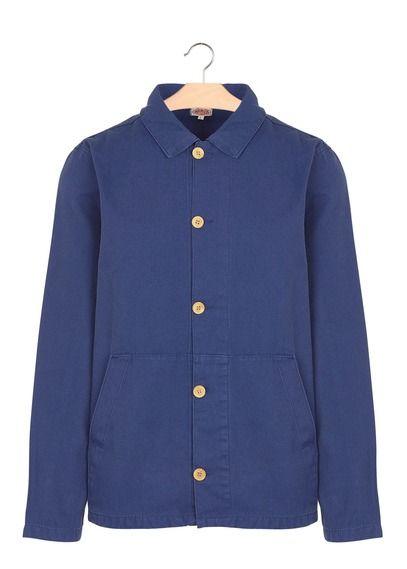 Lux Veste Pêcheur Boutonnée Adrien Armor De En Pour Bleu Coton By r8qSprTxw