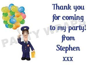 postman pat personalised party bag stickers favours labels 2nd