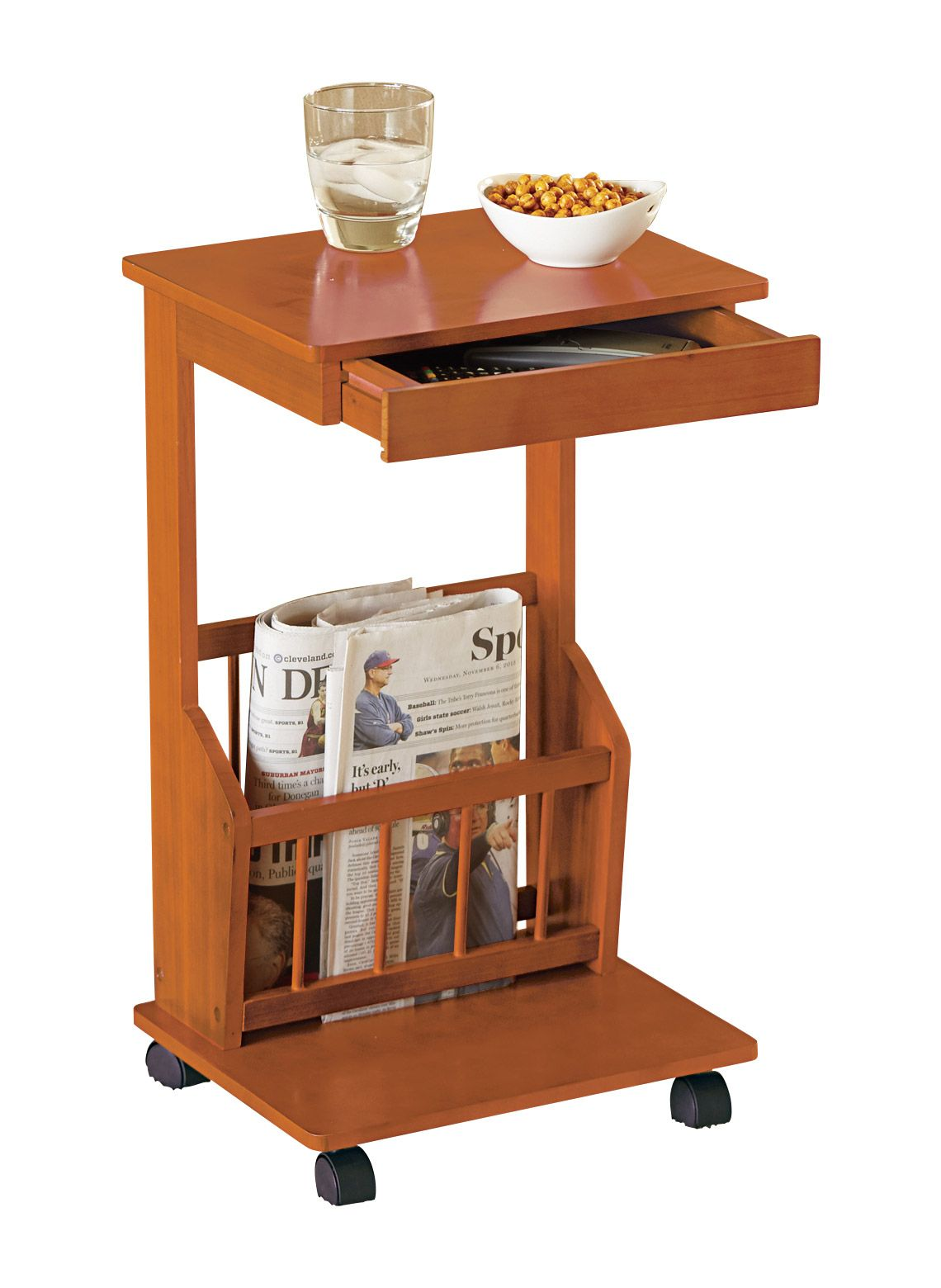 Rolling Side Table Homemade Furniture Table Decor Living Room Simple Furniture