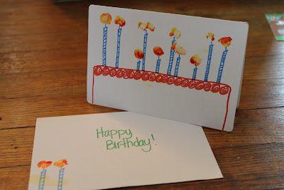 Scarlet Lily: Toddler art birthday card