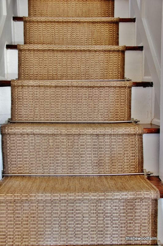 DIY:: Easy Inexpensive Option For A Rustic Stair Runner ! Looks Custom U0026  High End! Yet She Made It So Cheap In SUCH A Clever Way! Full Tutorial By  ...