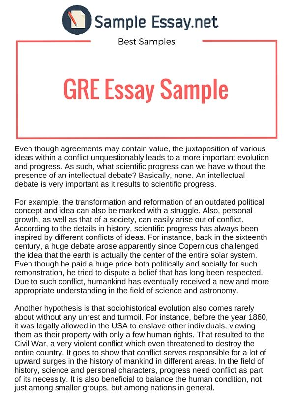 Example gre essays gecce tackletarts co