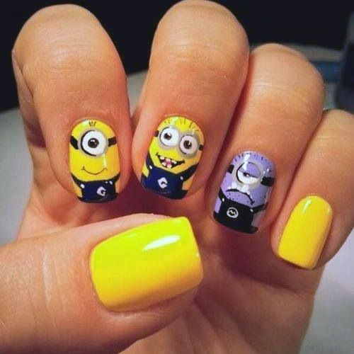Purple Minion Around Others Nail Art Design For More Nail Art