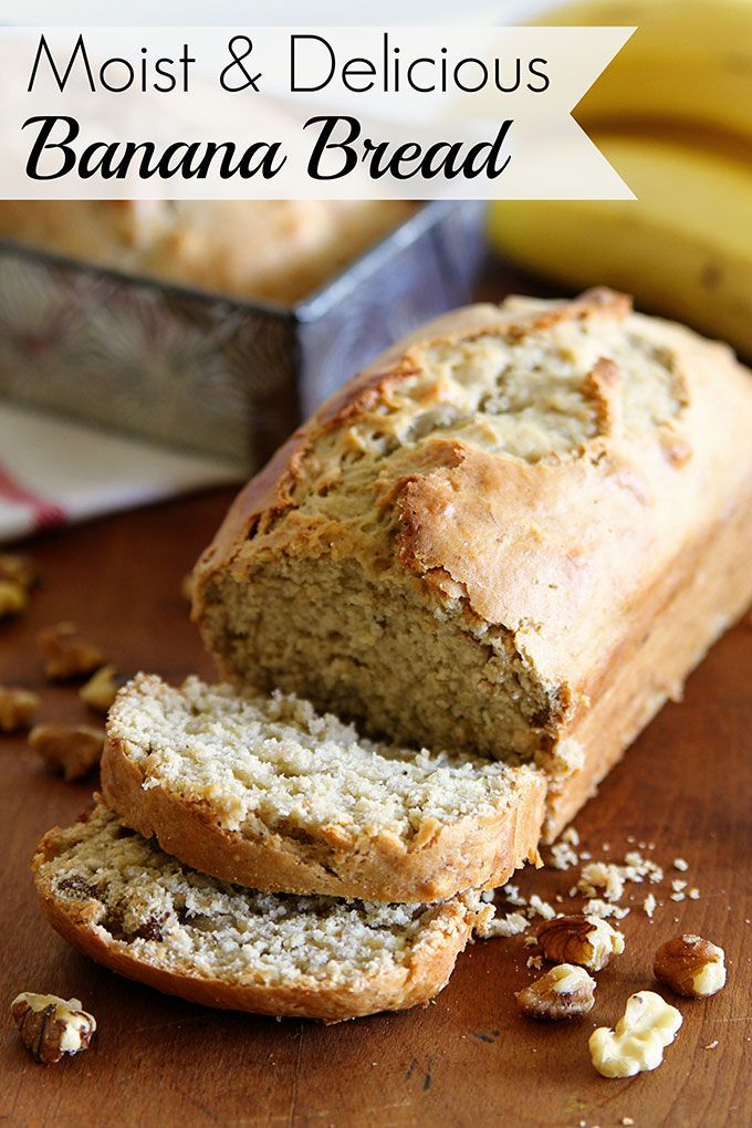 Best Moist Banana Bread Recipe Recipe Banana Bread Recipe Moist Sour Cream Recipes Delicious Banana Bread Recipe