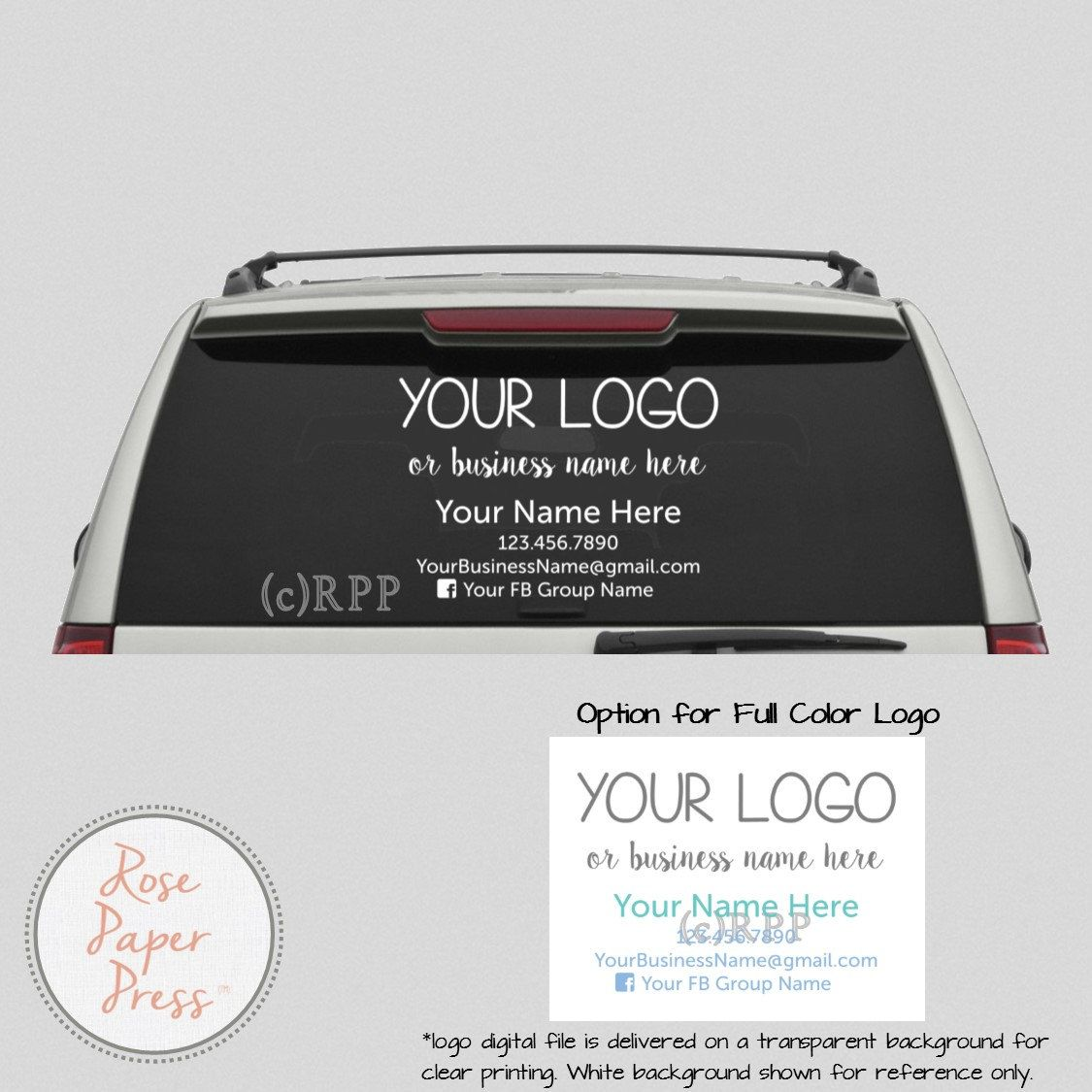 photo about Printable Window Sticker named Car or truck Decal Tailor made Printable Decal Tiny Enterprise