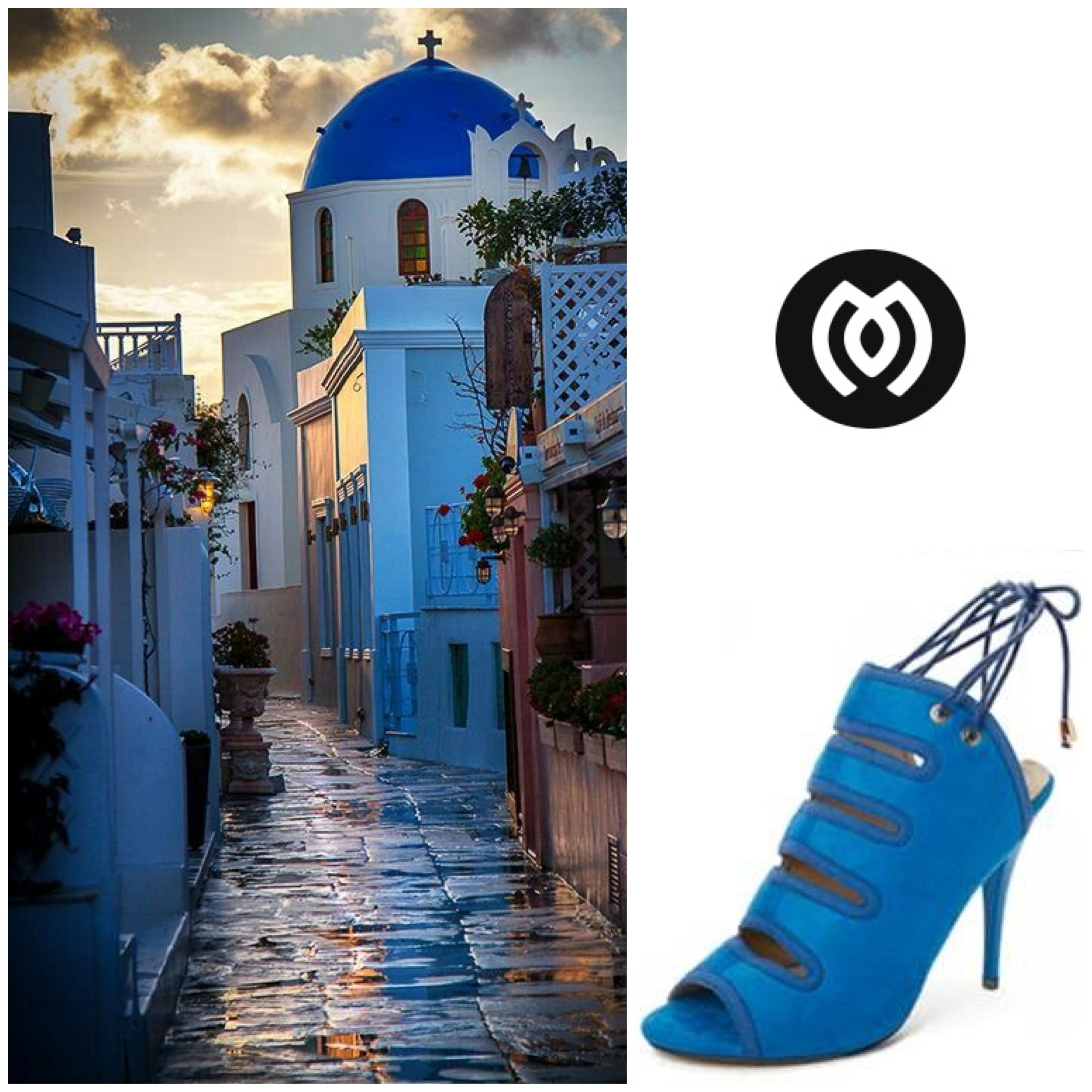 Derived from the Greeks' love for blue, get these dazzling heels now from Migato.