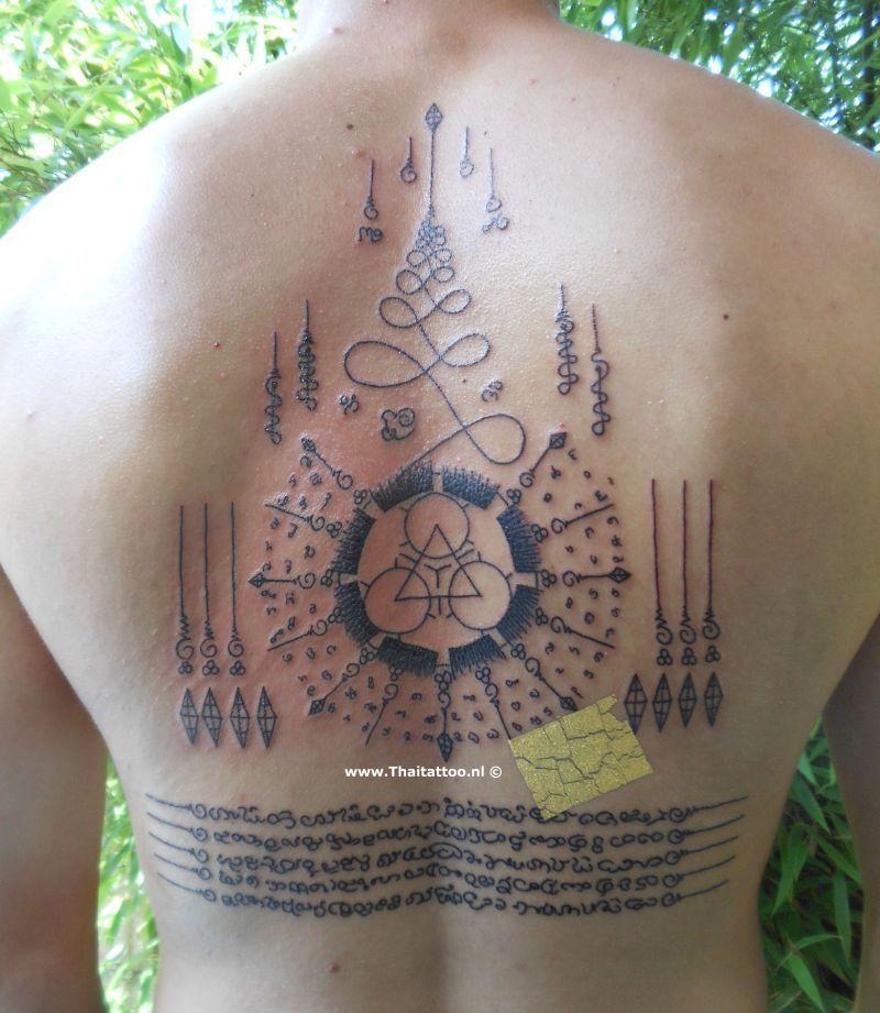 Thai tattoo sak yant nederland sak yant and yantra for Thailand tattoo meaning