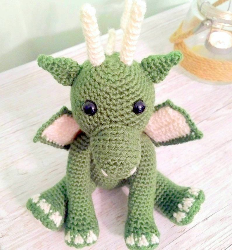 Crochet Pattern Dinosaur Dragon Amigurumi Doll