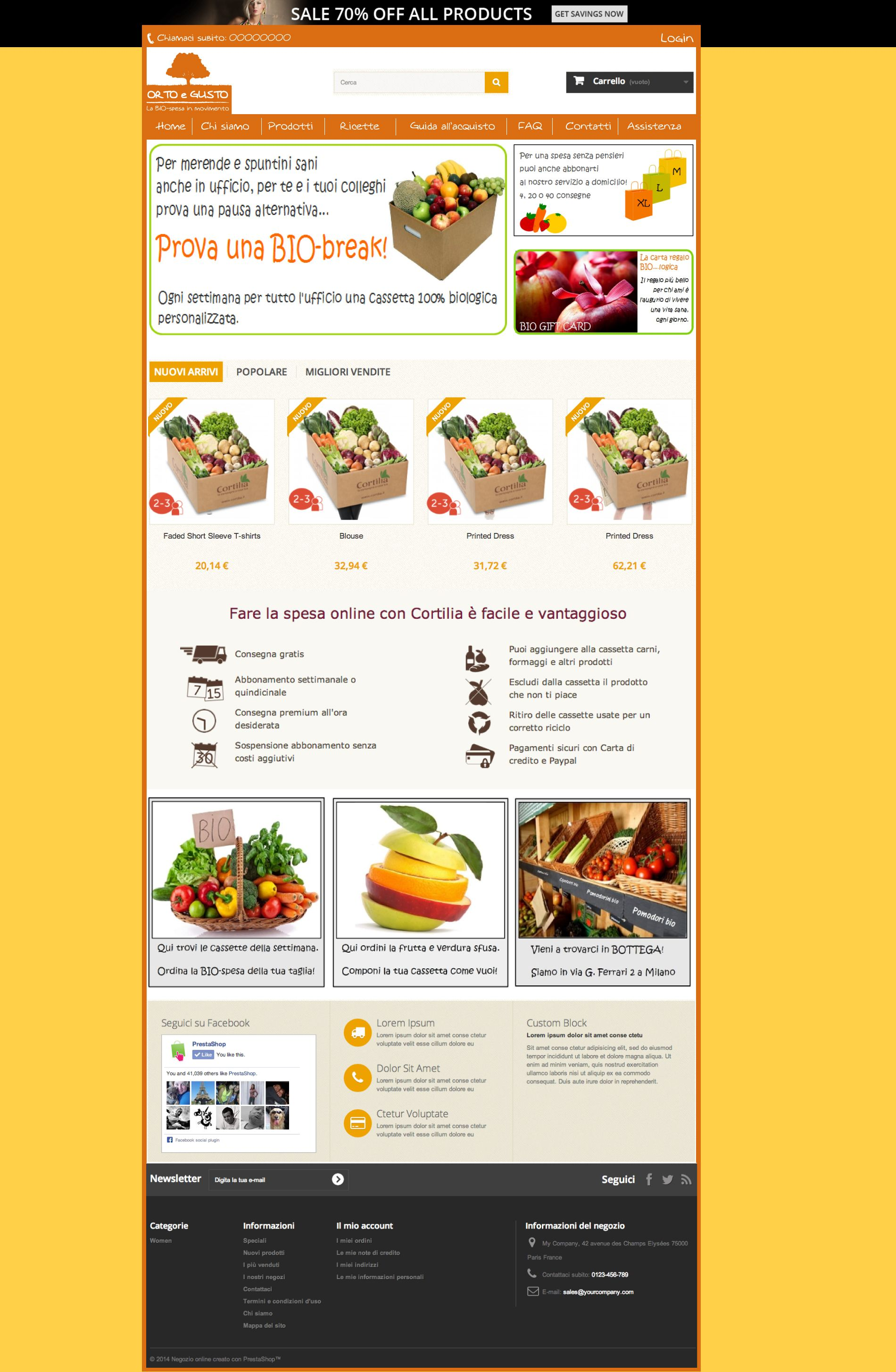 Template for Prestashop 1.6 with bootstrap | ecommerce web site ...