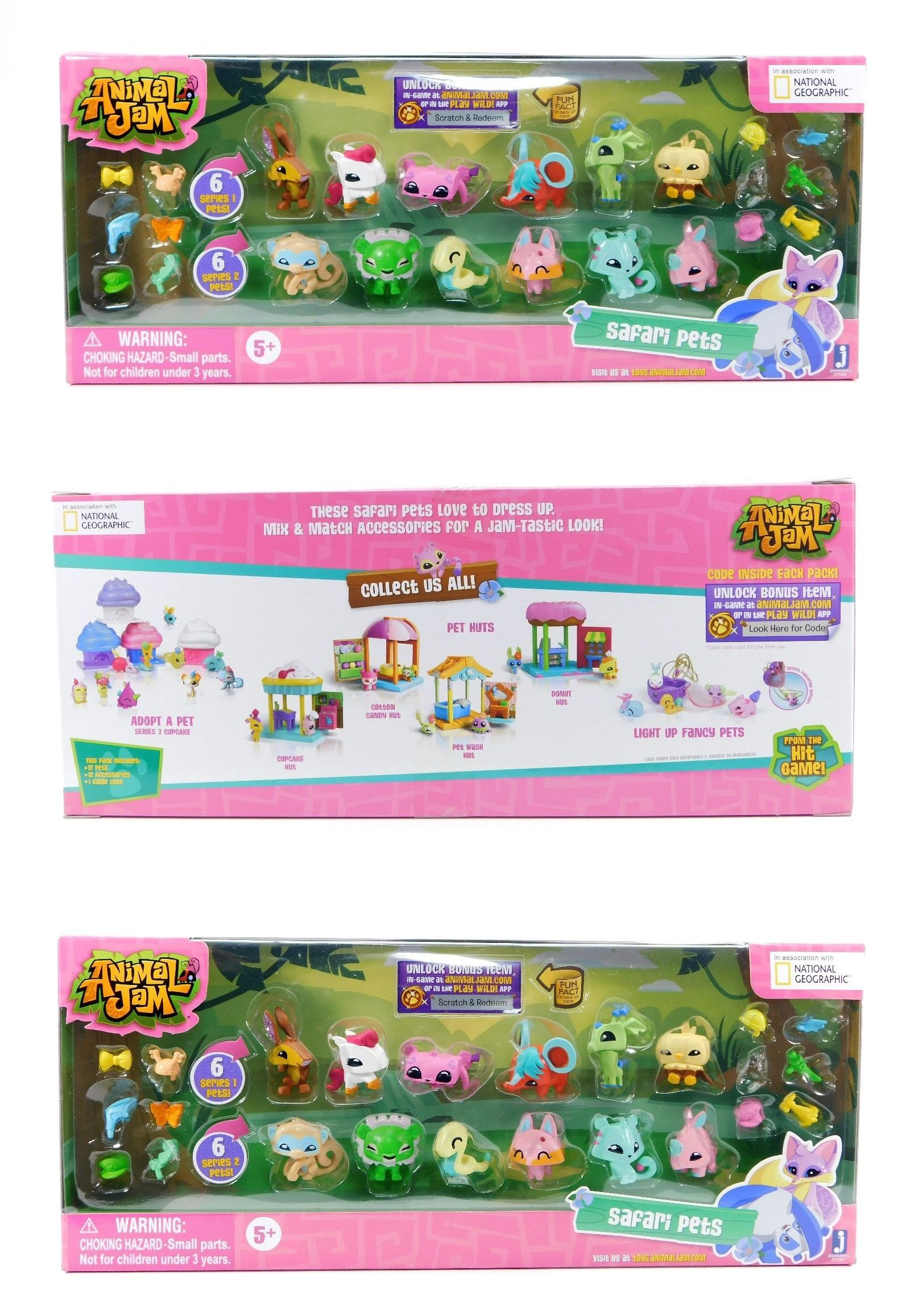 Animal Jam Adopt A Pet Safari Pets Collectible Toy Walmart Com Animal Jam Pets Toy Collection