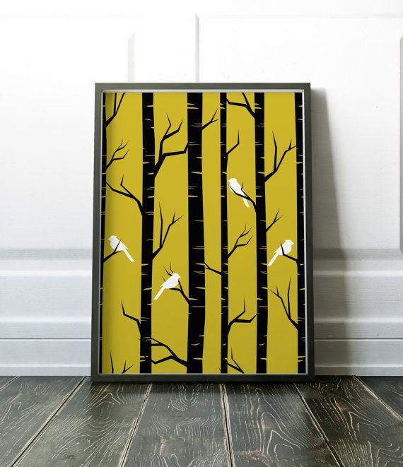 Minimalist Wall Art Print Tree Art Wall Decor Poster Minimalist ...