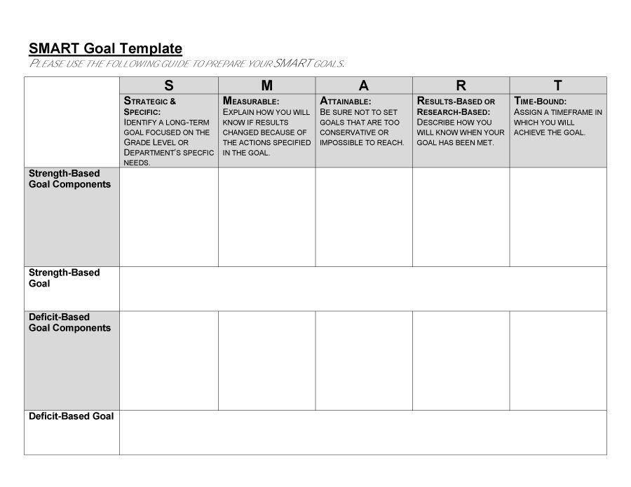 Smart Goals Worksheet 48 Smart Goals Templates Examples