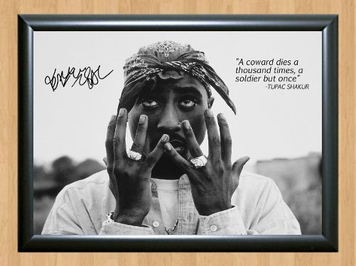 5 35 Gbp Tupac Shakur 2pac Signed Autographed A4 Print Poster
