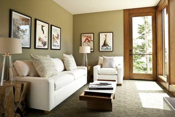 Kleines Wohnzimmer Einrichten Gestalten Sofa Couchtisch Holz Kommode