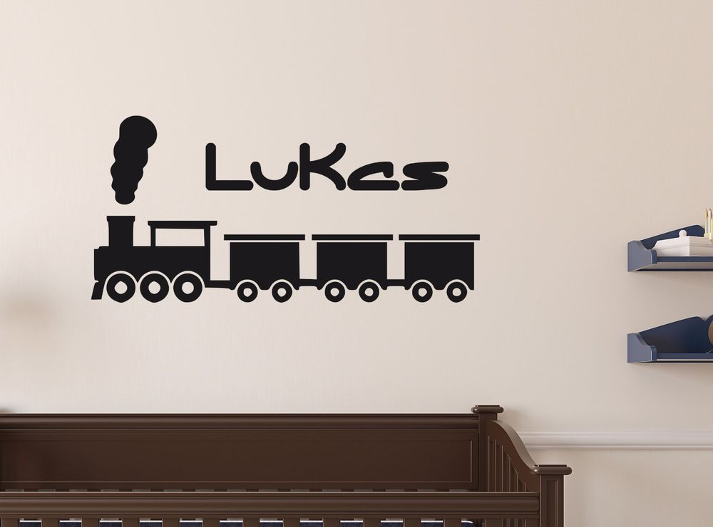 Personalised long train any name wall sticker art decor vinyl decal mural gift home garden home décor decals stickers vinyl art ebay