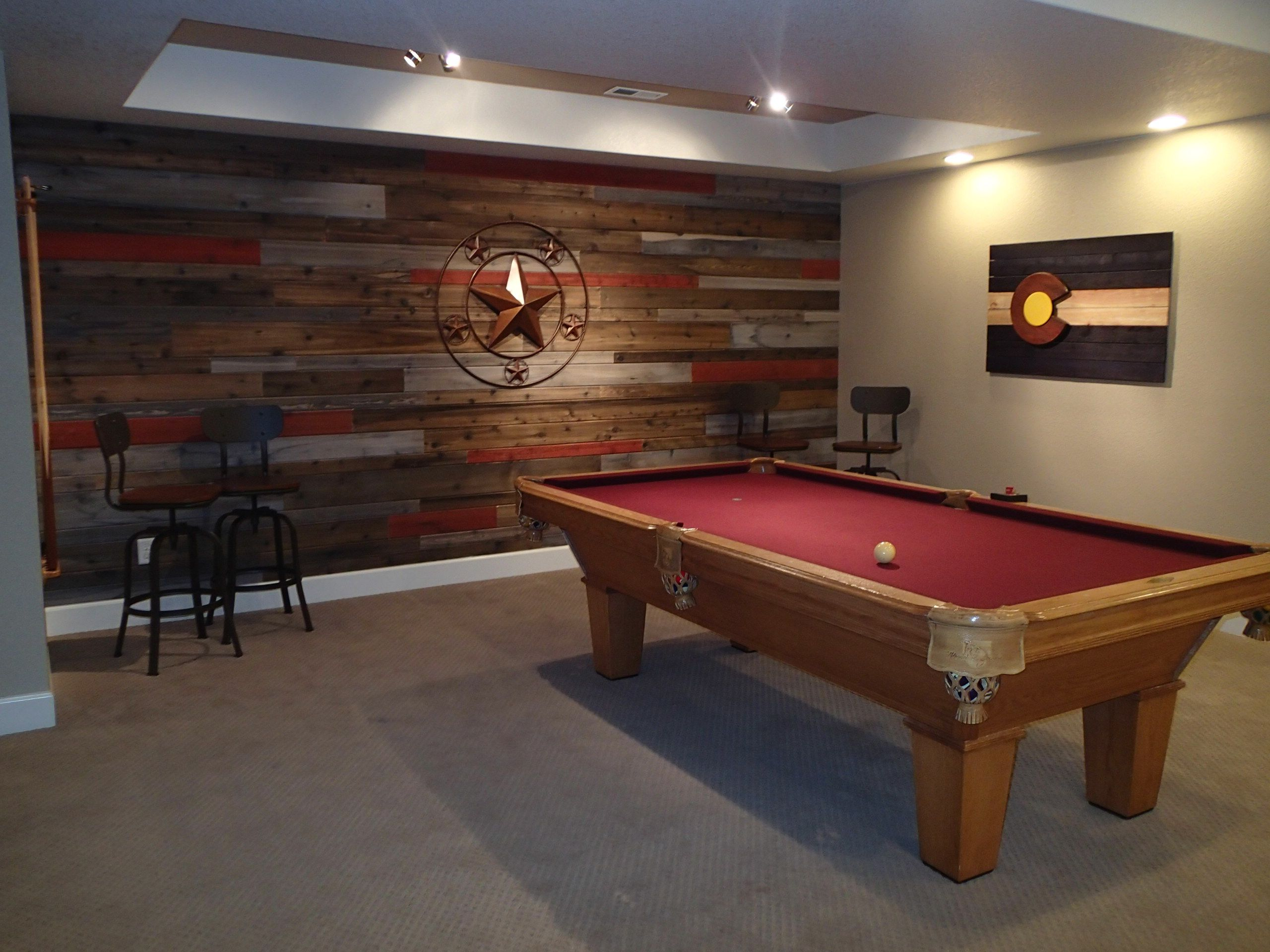 Nothing Says Basement Game Room Like A Jasperwood Accent Wall Pool Table Room Game Room Basement Basement Games