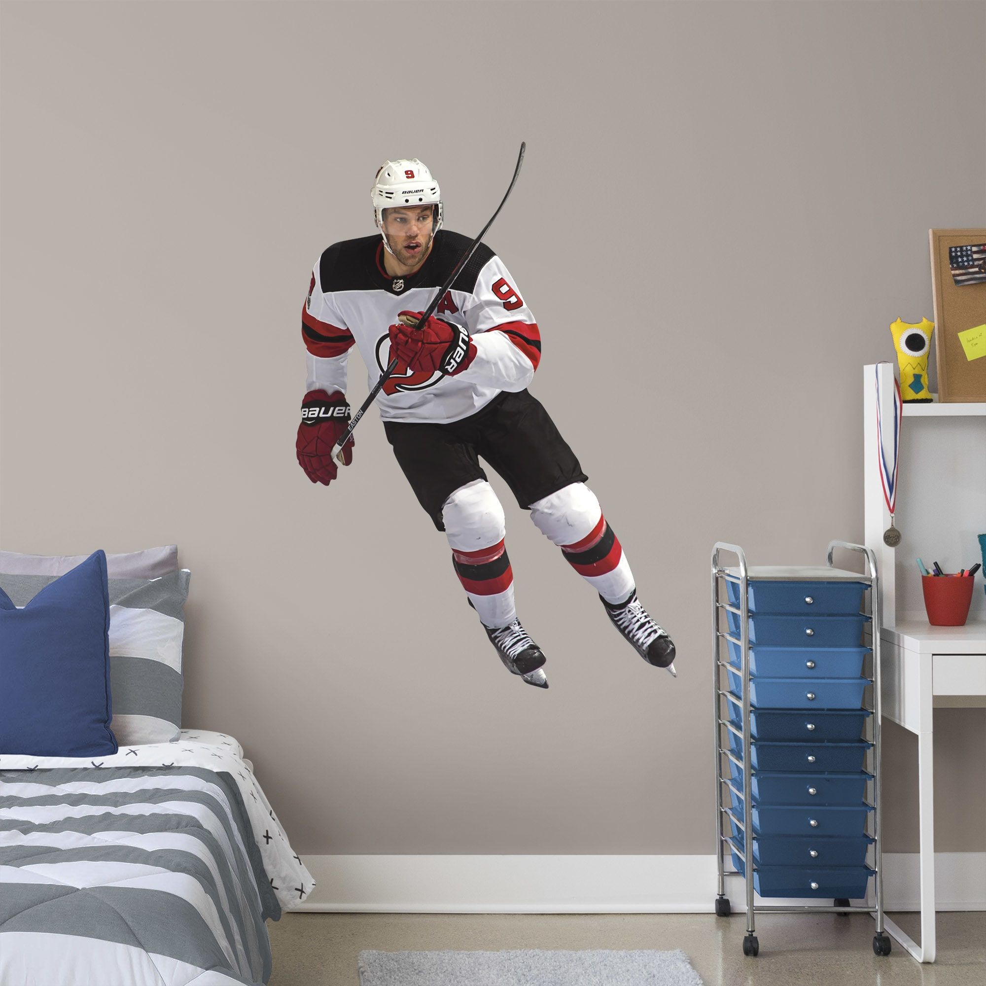 taylor hall giant officially licensed nhl removable wall on wall stickers for hall id=69118