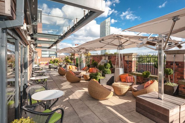 PHOTO Roof Garden Playground Britains Hidden Rooftop Bars Low Key Spaces To Soak Up The Summer Ambience From London Manchester