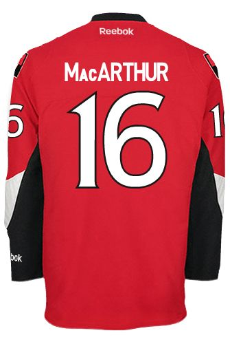 Ottawa Senators Clarke MacARTHUR #16 Official Home Reebok Premier Replica NHL Hockey Jersey (HAND SEWN CUSTOMIZATION)