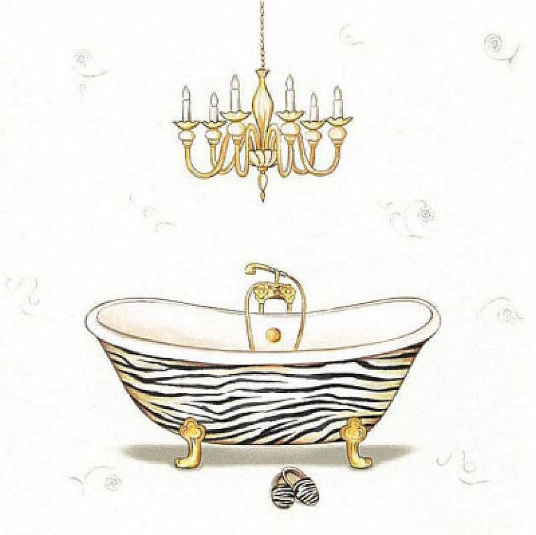 para el cuarto de baño | Láminas para decoupage, Laminas ...