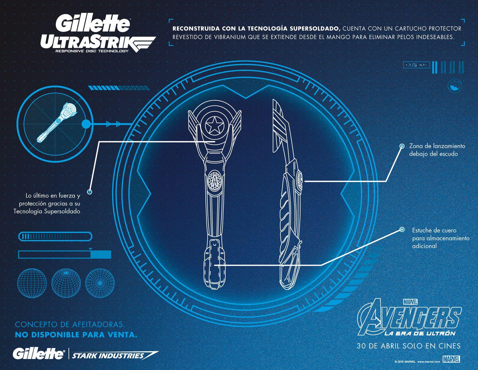 Super Afeitadoras GILLETTE inspirada en The Avengers @Marvel
