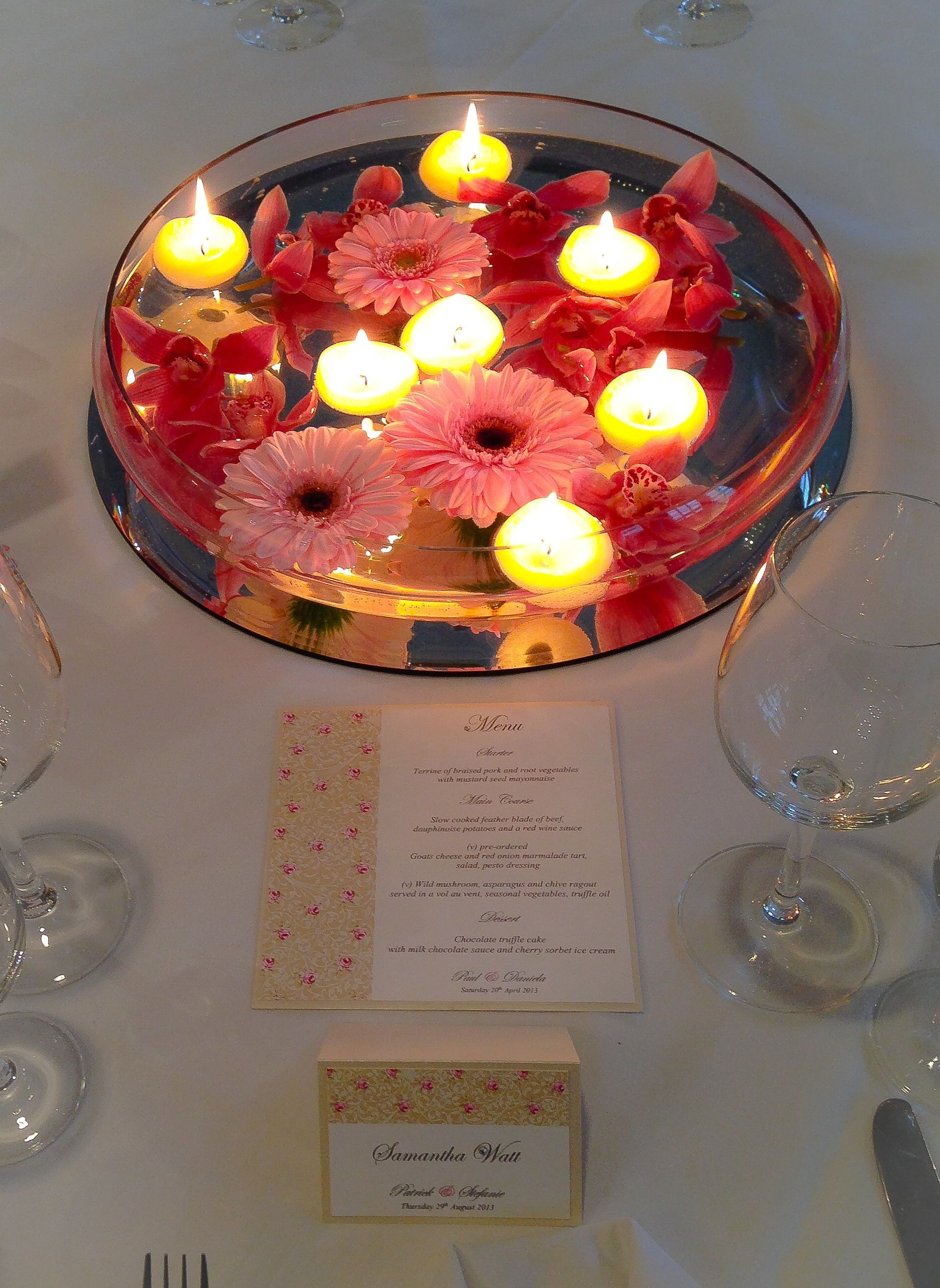 Pretty shabby chic table stationery, menu and place card from www ...