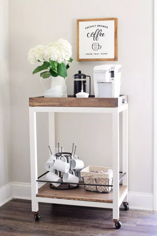 10 DIY Coffee Bar Cabinet Ideas for the Perfect Cup of Joe