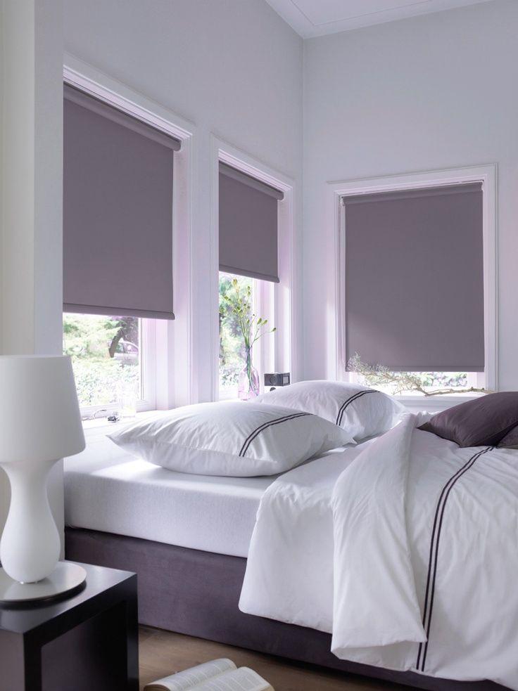 Verduisterende rolgordijnen grijs antraciet gordijnen for Verduisterende gordijnen slaapkamer