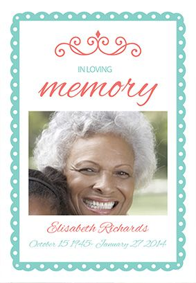 Quotin loving memoryquot printable invitation template customize add text and photos print or for In loving memory templates free