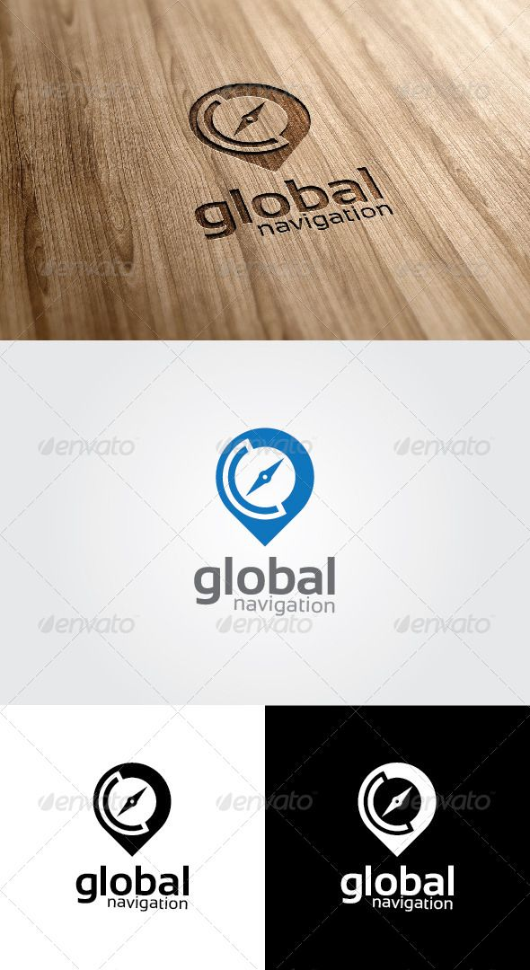global navigation logo design template vector logotype download it here http graphicriver net item global navigation logo map logo compass logo pin logo logo design template vector logotype