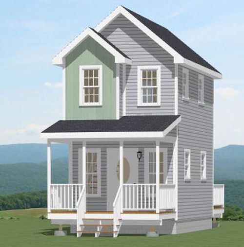 12x20 Tiny House PDF Floor Plan 464 Sq Ft Model
