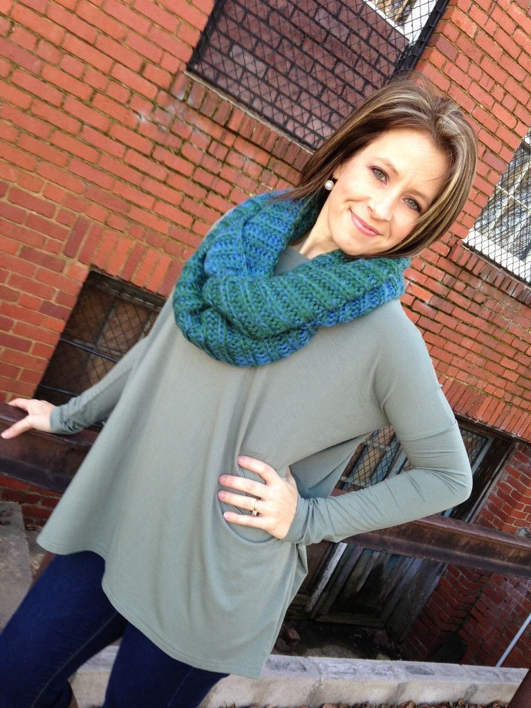Long Sleeve Army Green Piko Top – D. Bradley & Company, Inc $29.99 www.shopdbradley.com