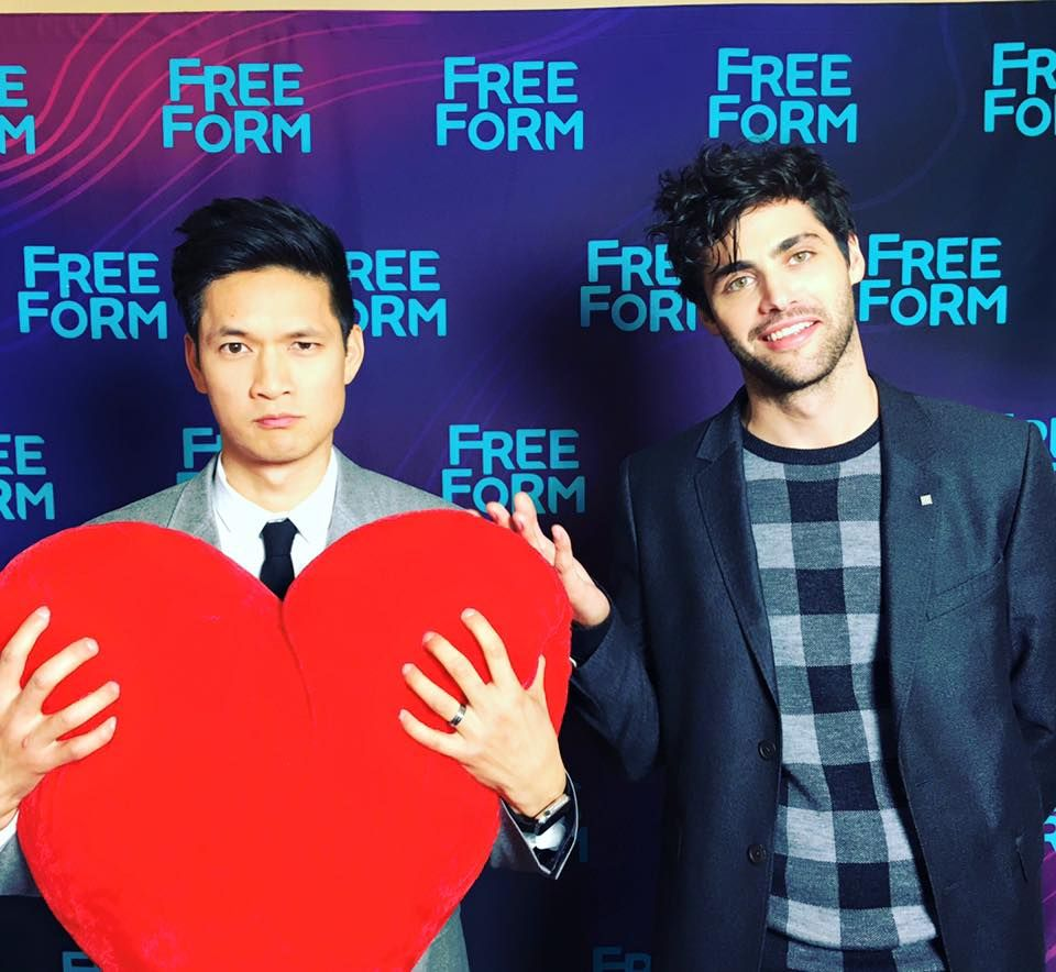 Happy Valentine's Day from Harry Shum Jr. & Matthew Daddario #Shadowhunters