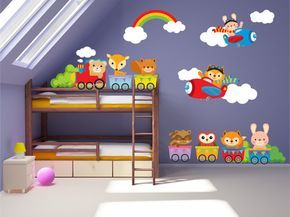 Kids Bedroom Wall Decals Nursery Wall Decals by YendoPrint | Trang ...