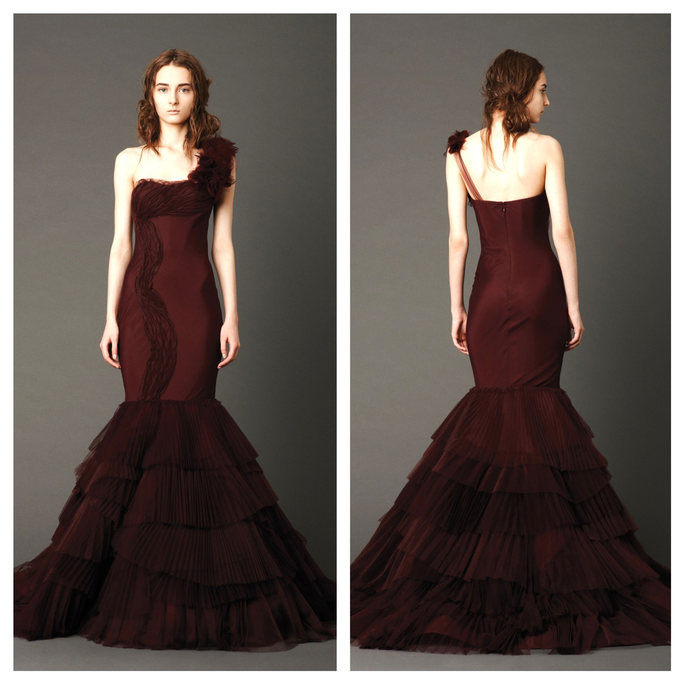 Vera-Wang-Red-Wedding-Dresses-2013-Kaye.jpg (2402×2402) | Red ...