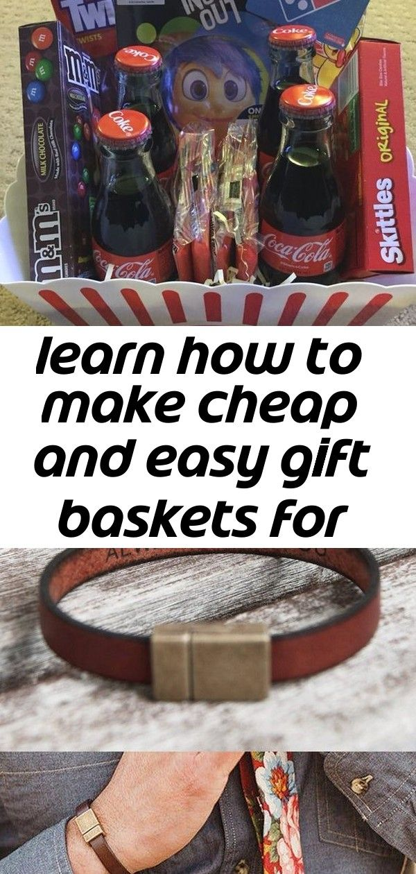 Learn how to make cheap and easy gift baskets for family and friends 1 #boyfriendgiftbasket