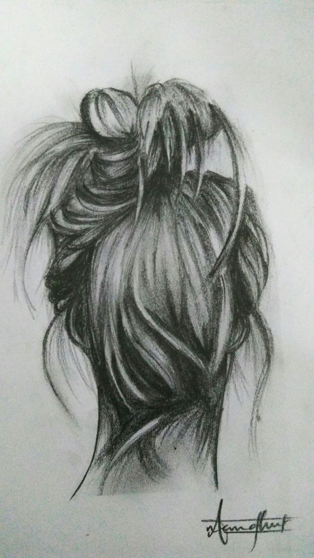 Messy Hair Messy Life Hair Mess Pencilsketch Pencil Sketch Messy Hairstyles Female Sketch