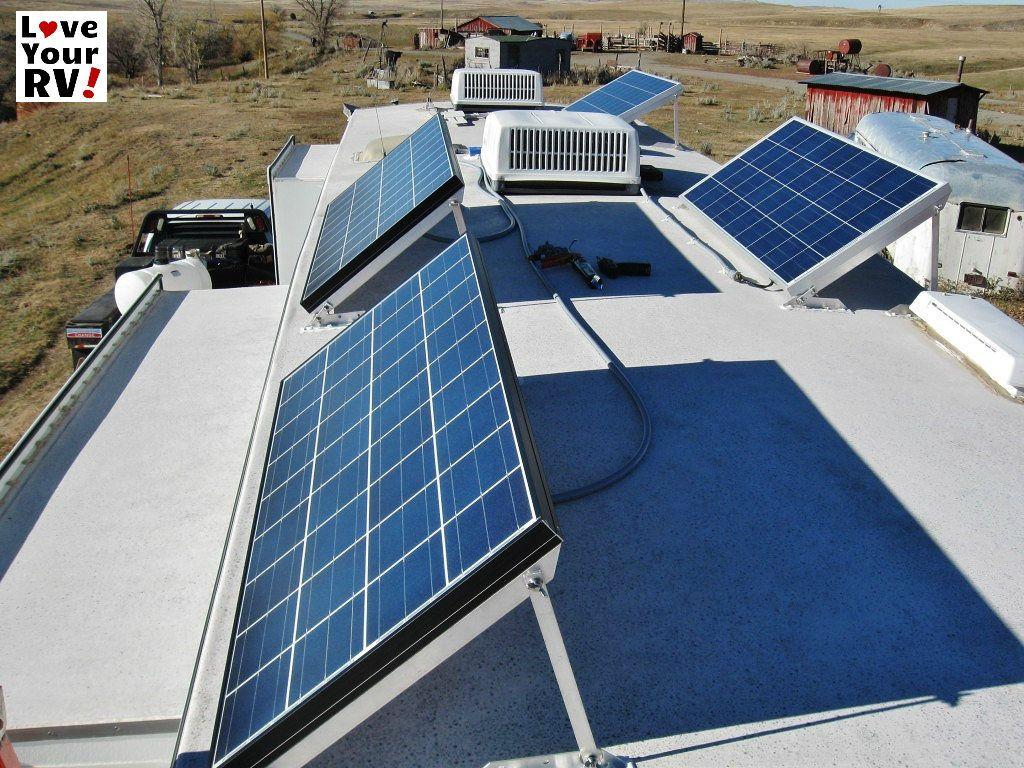 My Friends Awesome 580 Watt Rv Solar Power System Solar