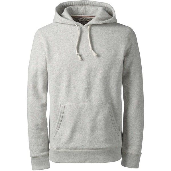 da079898 Lands' End Men's Serious Sweats Pullover Hoodie ($30) ❤ liked on Polyvore  featuring men's fashion, men's clothing, men's hoodies, grey, mens grey  hoodie, ...