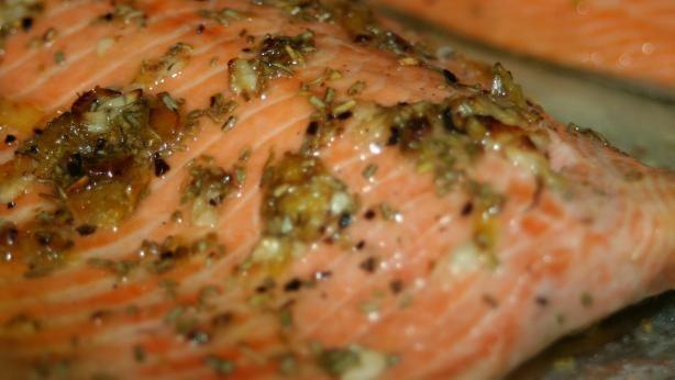 Broiled Steelhead Trout- Rosemary, lemon, garlic
