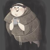My go at the Fat Friar (the ghost of Hufflepuff) for 2 guys 1 girl Harry Potter Design Challenge. Hufflepuff forever! :) #jkrowling #harrypotter #fatf...