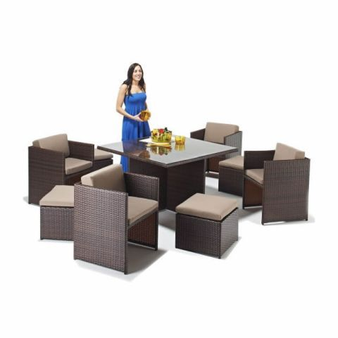 Woven Cube 4 - 8 Seater Set A Misc- New home Pinterest Cube