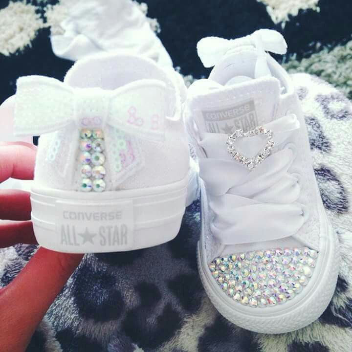 53bf0ecda0 Converseshoes$29 on | ♡Bling Up Your Kicks♡ | Baby converse, Baby ...