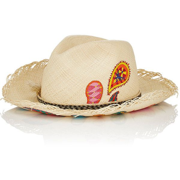 Womens Pink In Art Panama Straw Hat Ibo-Maraca Sm7QYje