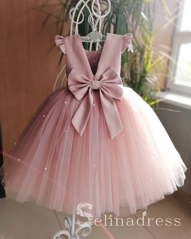 Schone Rosa Ziemlich Billig Hochzeit Kleines Madchen Blumenmadchenkleider Grs008 Blumen Madchen Kleider Prinzessinnen Kleider Blumenmadchen Kleid