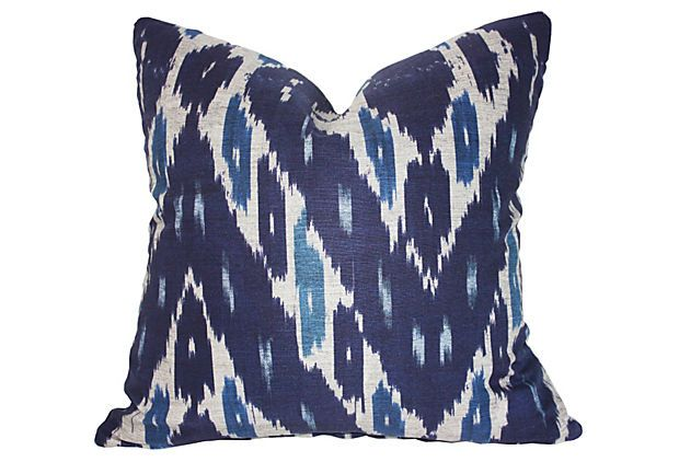 Mary 20x20 Cotton Pillow, Navy on OneKingsLane.com